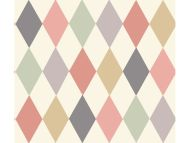 Cole & Son WP: Whimsical Punchinello 103/2009.CS.0 Coral and Green