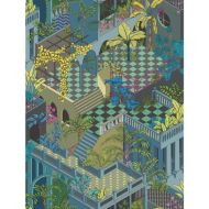 Cole & Son: Miami 105/4018.CS.0 Navy and Pink