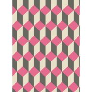 Cole & Son: Delano 105/7033.CS.0 Pink and Black