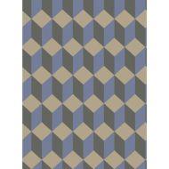 Cole & Son: Delano 105/7034.CS.0 Blue and Black