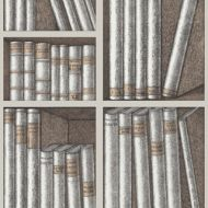 Cole & Son WP: Fornasetti Ex Libris 114/15029.CS.0 Stone/Linen