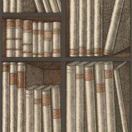 Cole & Son WP: Fornasetti Ex Libris 114/15030.CS.0 Oat/Charcoal