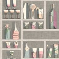 Cole & Son WP: Fornasetti Cocktails 114/23044.CS.0 Pastel
