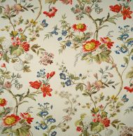 Scalamandre: Giamaican CL 0001 16098M Poppy & Peacock on Ivory