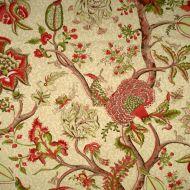 Scalamandre: Pondicherry SC 0005 16430 Turkey Red On Lime