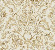 Scalamandre: Mansfield Damask Print SC 0001 16598 Ivory & Burnished Gold