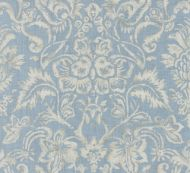 Scalamandre: Mansfield Damask Print SC 0002 16598 Bluestone & Silver