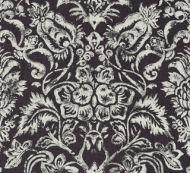Scalamandre: Mansfield Damask Print SC 0003 16598 Graphite & Silver