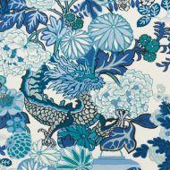 Schumacher: Chiang Mai Dragon Indoor/Outdoor 177311 China Blue
