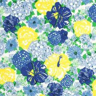 Lilly Pulitzer Resort 365 for Lee Jofa: Heritage Floral II 2016103.540.0 Blue/Yellow