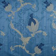 Scalamandre: Vivaldi CL 0008 26715 Navy & Linen on Blue