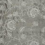 Scalamandre: Flowdery CL 0002 26818 White on Grey