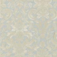 Scalamandre: Elizabeth Damask Embroidery SC 0002 27086 Aquamarine