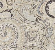 Scalamandre: Malabar Paisley Embroidery SC 0003 27124 Flax