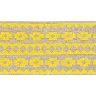 Schumacher: Talitha Tape 70645 Yellow on Natural