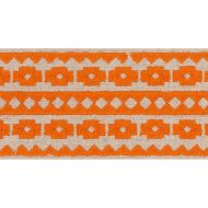 Schumacher: Talitha Tape 70647 Orange on Natural