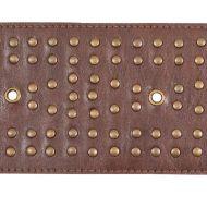 Schumacher: Studded Leather Trim 76091 Brown