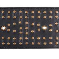 Schumacher: Studded Leather Trim 76092 Black