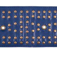 Schumacher: Studded Leather Trim 76093 Navy