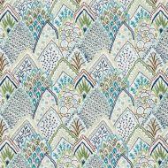 Schumacher: Albizia Embroidery 76311 Blue & Green