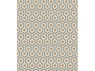 Cole & Son WP: Contemporary Restyled Hicks' Hexagon 95/3017.CS.0 Gold/Taupe