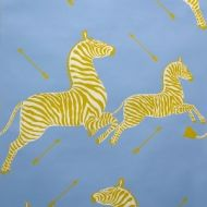 Scalamandre: Zebras Wallpaper SC 0007 WP81388M Periwinkle