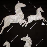 Scalamandre: Zebras Wallpaper SC 0009 WP81388M Black & Silver