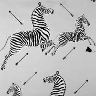 Scalamandre: Zebras Wallpaper SC 0010 WP81388M Silver