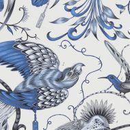 Clarke & Clarke: Audubon Print F1108-1 Blue
