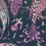 Clarke & Clarke: Audobon Print F1108-4 Pink