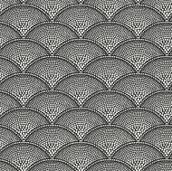 Cole & Son for Lee Jofa: Feather Fan F111/8031.CS.0 White on Black