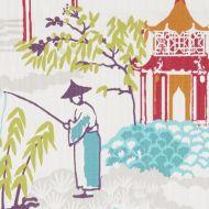 Clarke & Clarke: Pagoda F1290, SUMMER