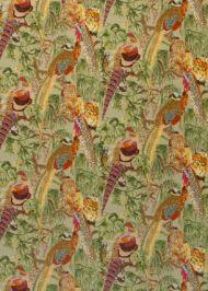 Mulberry Home: Game Birds Velvet FD268.H46.0 Fig Multi