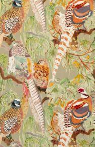 Mulberry Home: Game Birds Velvet FD268.K102.0 Stone Multi