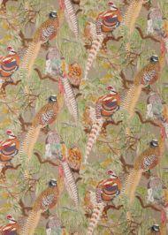 Mulberry Home: Game Birds Linen FD269.K102.0 Stone Multi