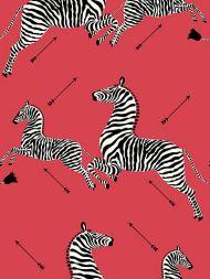 Scalamandre: Zebras Vinyl Wallpaper SC 0001 WP81388MV Masai Red