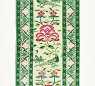 Scalamandre: Royal Peony Linen Print SC 0002 16613 Spring Green