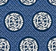 Scalamandre: Dragon's Fret Embroidery SC 0002 27215 Midnight