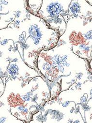 Scalamandre: Andrew Jackson Floral SC 0002 WP88432 Riviera