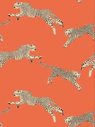 Scalamandre: Leaping Cheetah SC 0002 WP88449 Clementine