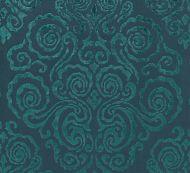 Scalamandre: Cirrus Velvet Damask SC 0003 27219 Emerald