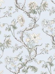 Scalamandre: Andrew Jackson Floral SC 0003 WP88432 Skylight
