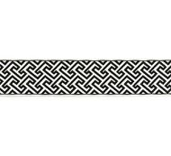 Scalamandre: Labyrinth Embroidered Tape SC 0005 T3319  Noir