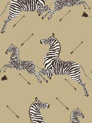 Scalamandre: Zebras Vinyl Wallpaper SC 0011 WP81388MV Gold