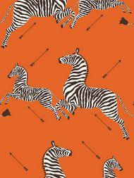 Scalamandre: Zebras Vinyl Wallpaper SC 0012 WP81388MV Orange