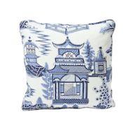 "Schumacher: Nanjing 18"" Pillow SO17443104 Porcelain"