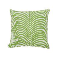 "Schumacher: Zebra Palm I/O 16"" Pillow SO7317103 Leaf"