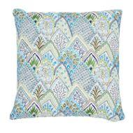"Schumacher: Albizia Embroidery 18"" Pillow SO7631104 Blue & Green"