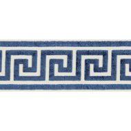 Scalamandre: Greek Key Velvet Tape SC 0005 T3279 Indigo