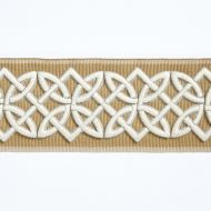 Scalamandre: Celtic Embroidered Tape SC 0002 T3282 Camel